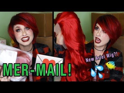 MER-MAIL! + Surgery Update // WigIsFashion Ariel Wig! PUG! Disney LulaRoe & Cakeworthy!