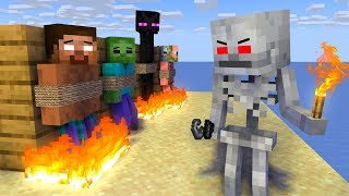 Monster School : SKELETON BECAME VILLAIN CHALLENGE - Minecraft Animation