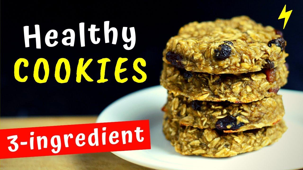 3-Ingredient Healthy Cookie Recipe
