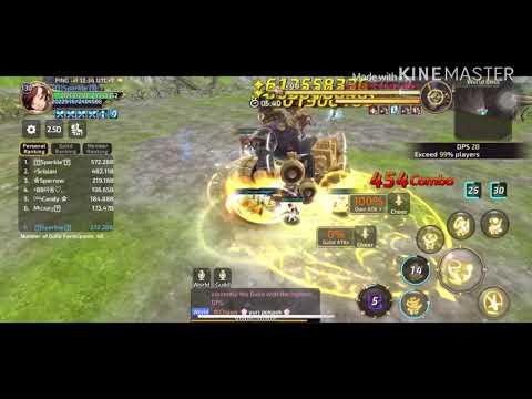 Dragon Nest M - Testing Damage Oracle Elder In World Boss