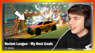 Reacting to my fans Rocket League MONTAGES...