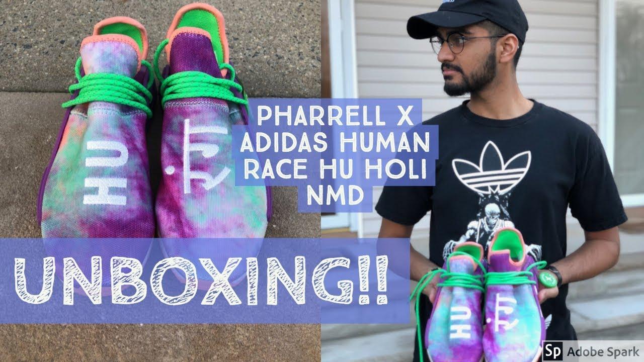 7931faa9e UNBOXING  370 Pharrell X Adidas Human Race Hu Holi NMD Trail!!!! (HYPEBEAST)
