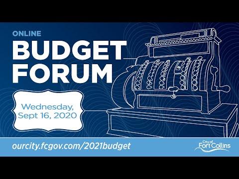 view Online Budget Forum - September 16, 2020 video