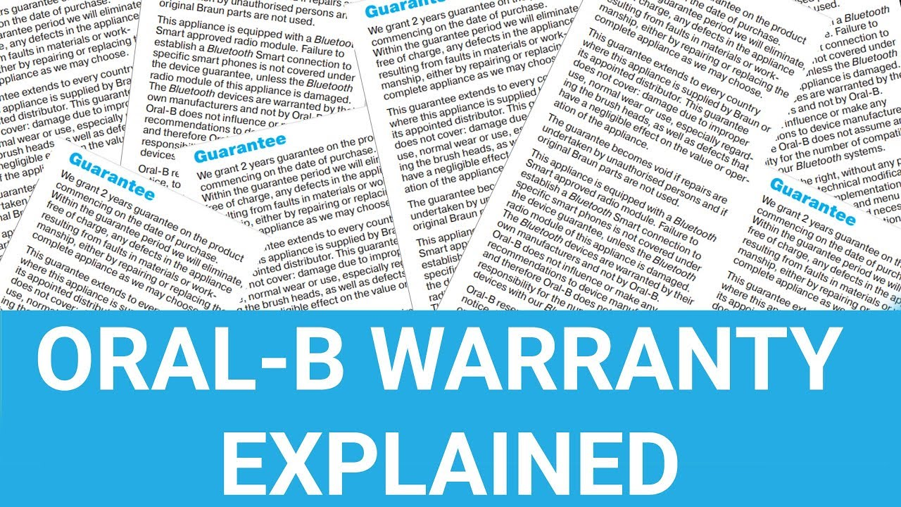 Oral-B Electric Toothbrush Warranty Explained - UK