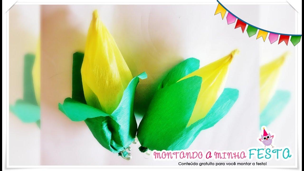 Lembrancinha formato de espiga de milho para festa junina - Papel decorativo infantil ...