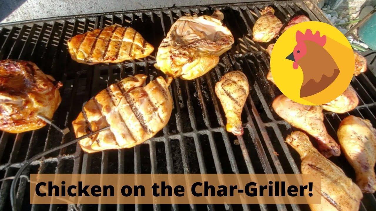 Chicken on the Char-Griller Smokin' Champ!