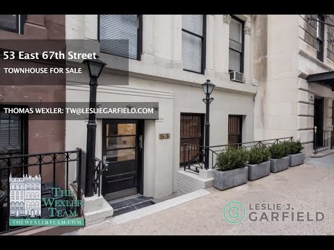 MANHATTAN TOWNHOUSE AT 53 EAST 67TH STREET FOR SALE...