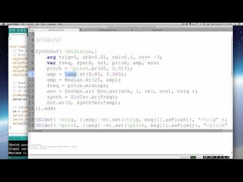 Serial data into Supercollider