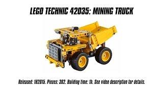 'lego Technic 42035 Mining Truck' Unboxing, Speed Build & Review | Sariel's Lego Technic Den