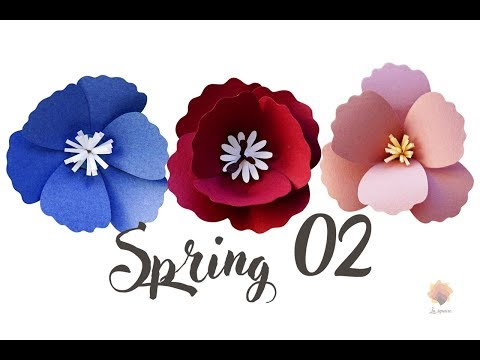 Easy doing Spring 02 cardstock DIY Paper flower backdrop