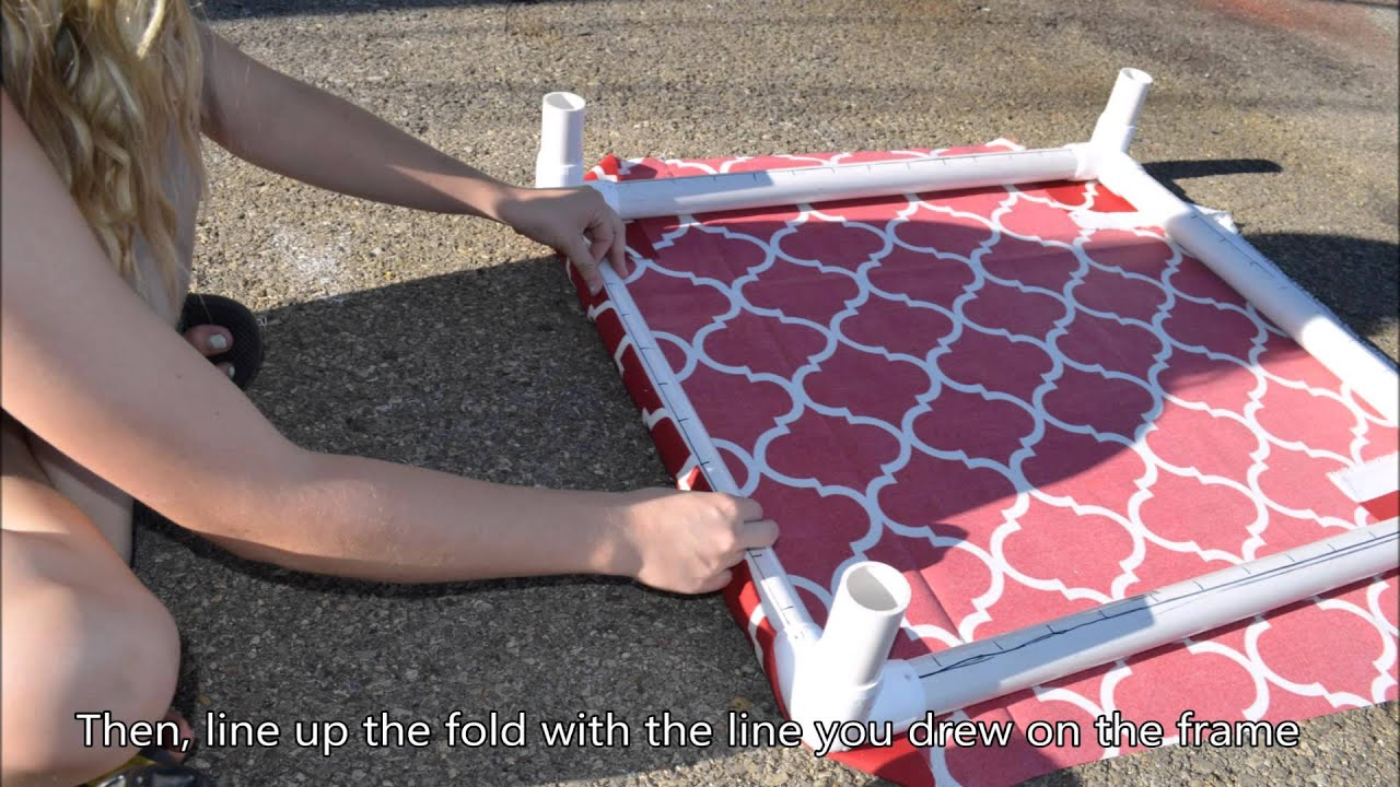 How to build a PVC Dog Bed - YouTube