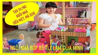 GIỚI THIỆU NGÔI NHÀ BÚP BÊ TỰ LÀM MỚI NHẤT CỦA MÌNH | DOLL HOUSE FOR KIDS | KL CREATIVE KIDS