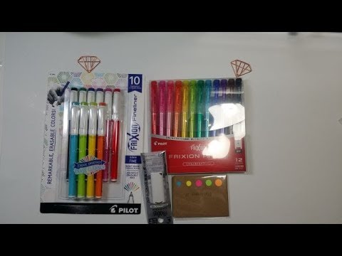 Pilot Frixion Fineliner Pens Review and Swatch