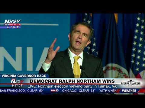 FNN: Democrat Ralph Northam Victory Speech After Winning Virginia Governor Election