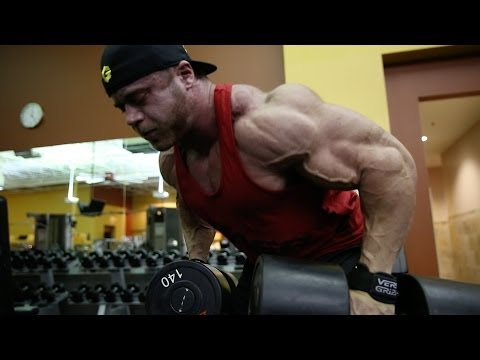 IFBB Pro Aaron Clark Trains Back and Biceps with NPC Competitor David Murad Part 1