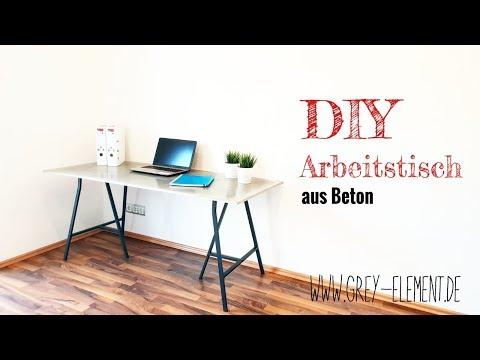 Diy Anleitung Beton Tisch Arbeitsplatte Selber Bauen Mit Carameo