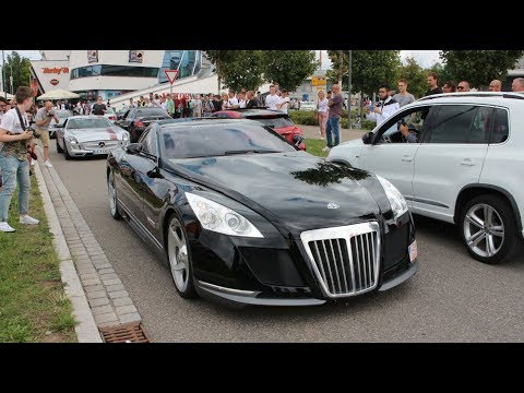 the one and only 8 million dollar maybach exelero (driving, revs and
