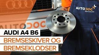 Sådan udskifter du bremseskiver bagtil og bremseklodser bagtil på AUDI A4 B6 [GUIDE]