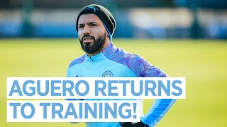 SERGIO AGUERO IS BACK | POST ARSENAL TRAINING