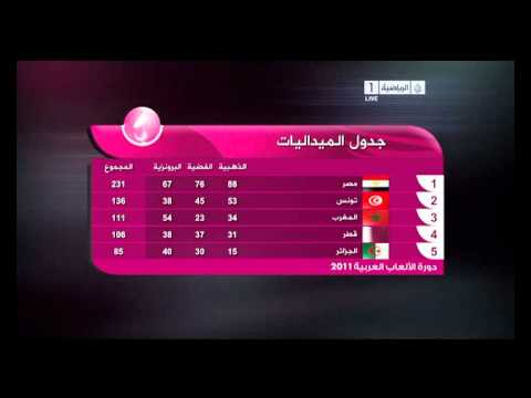 the final table [ ARAB GAMES 2011 ]