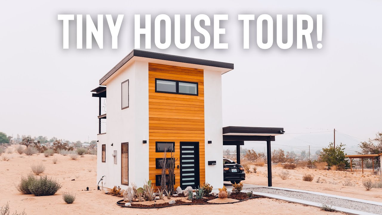 2 Story 300sqft Tiny House Tour! | The Hare House in Joshua Tree