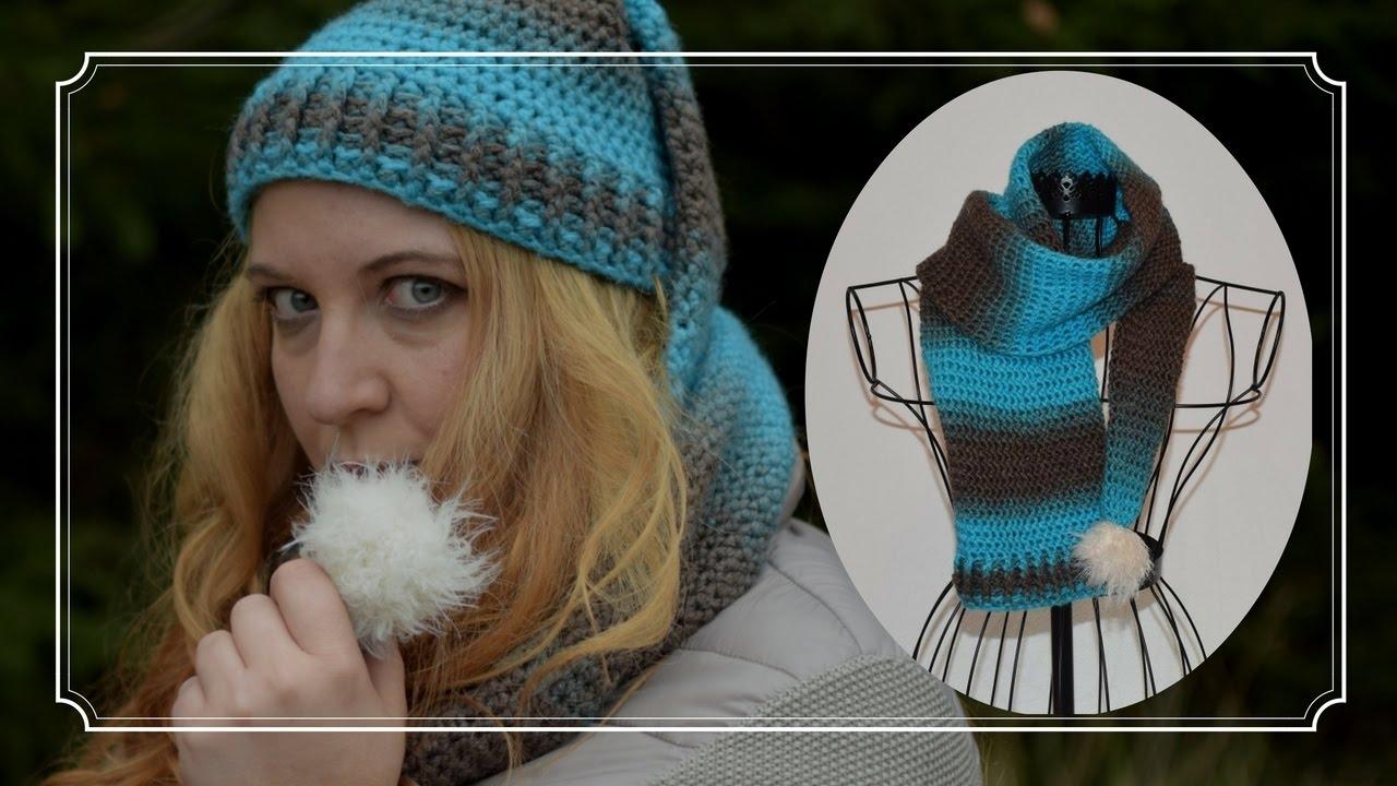 Mütze Mit Schal Häkeln Zipfelmützenschal Youtube