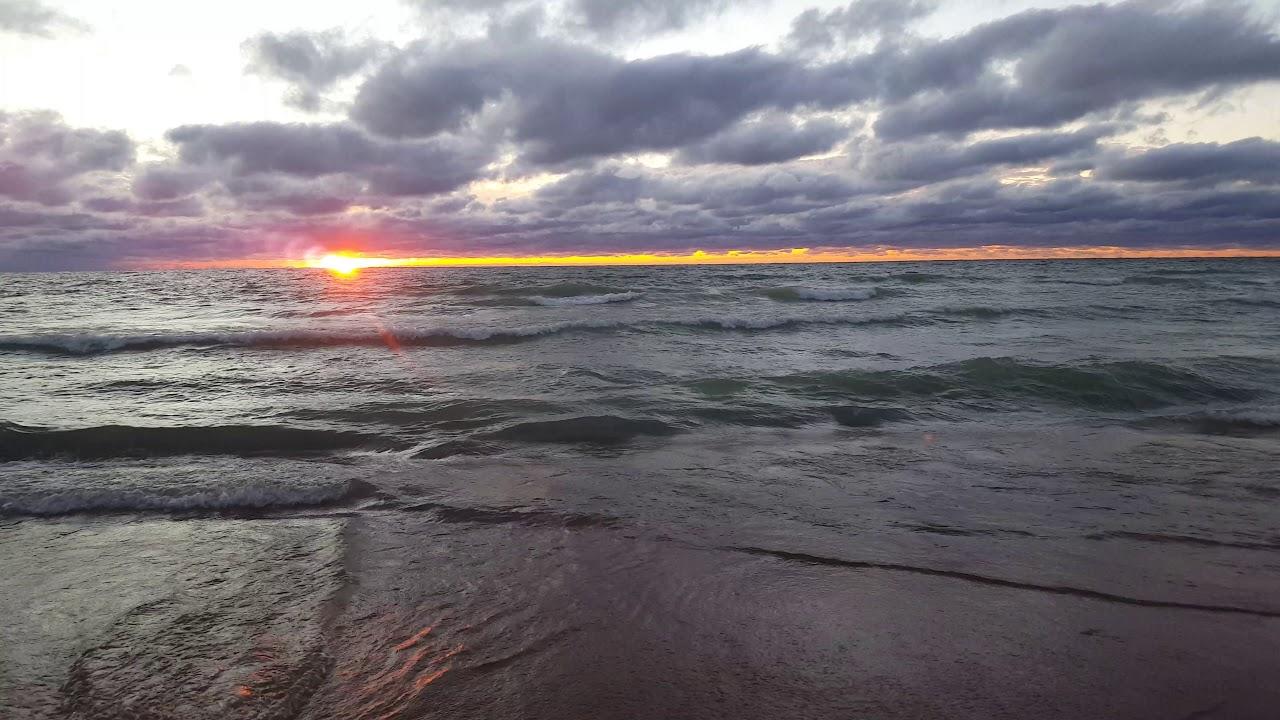 Sunset From Waco Beach Michigan