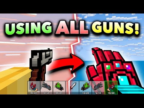 USING ALL WEAPONS!! | Pixel Gun 3D - Pro Gun Game Challenge (2019 Edition)