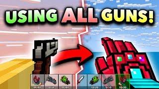 USING ALL WEAPONS!! | Pixel Gun 3D - Pro Gun Game Challenge (2019 Edition)