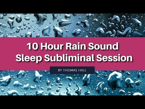 Calm & Confident Public Speaking - (10 Hour) Rain Sound - Sleep Subliminal - By Thomas Hall