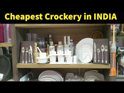 Wholesale Cheapest Crockery Market - Plates, Glasses, Jars, Spoons-Sadar Bazar Rajsi Metals