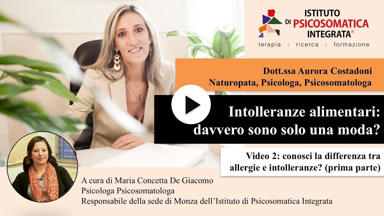Conosci la differenza fra allergie e intolleranze? (prima parte)