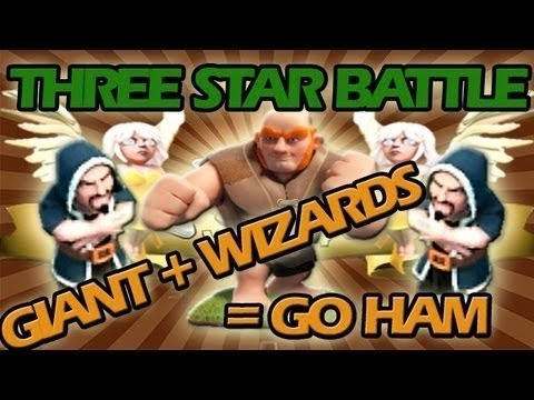 Clash of Clans: Wizards + Giants + Healer Strategy - Three Star Battle of the Week #8!!