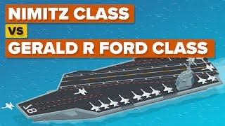 Nimitz Class vs Gerald R Ford Class - How Do The Aircraft Carriers Compare? thumbnail