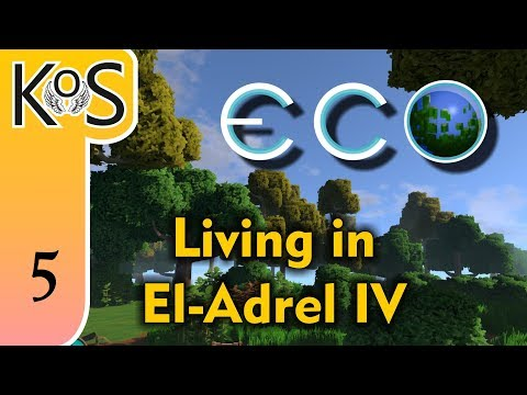 Eco El-Adrel IV Ep 5: THE RED DOMINION & ARCHITECTURAL WONDERS - Multiplayer - Voxel Builder/RPG