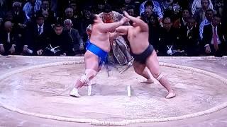 琴奨菊 vs千代の国 2017年大相撲九州場所13日目 20171124 千代の国 検索動画 12