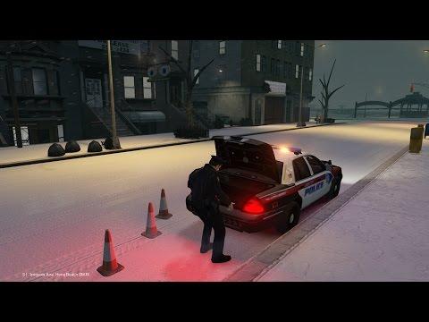 LibertyESA - GTAIV LCPD:FR Patrol #32 Man Slips on Ice [Snow Mod] Semi-Serious