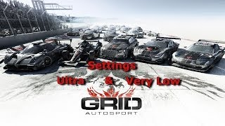 Ultra & very Low Settings | GRID Autosport