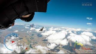 Flying wing-suit cloud porn 4k GPS