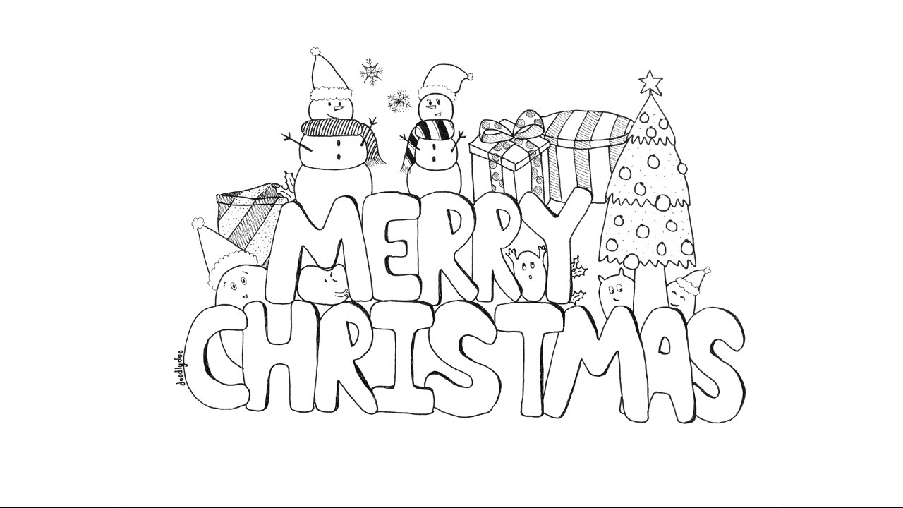 Christmas Doodle (time lapse drawing)
