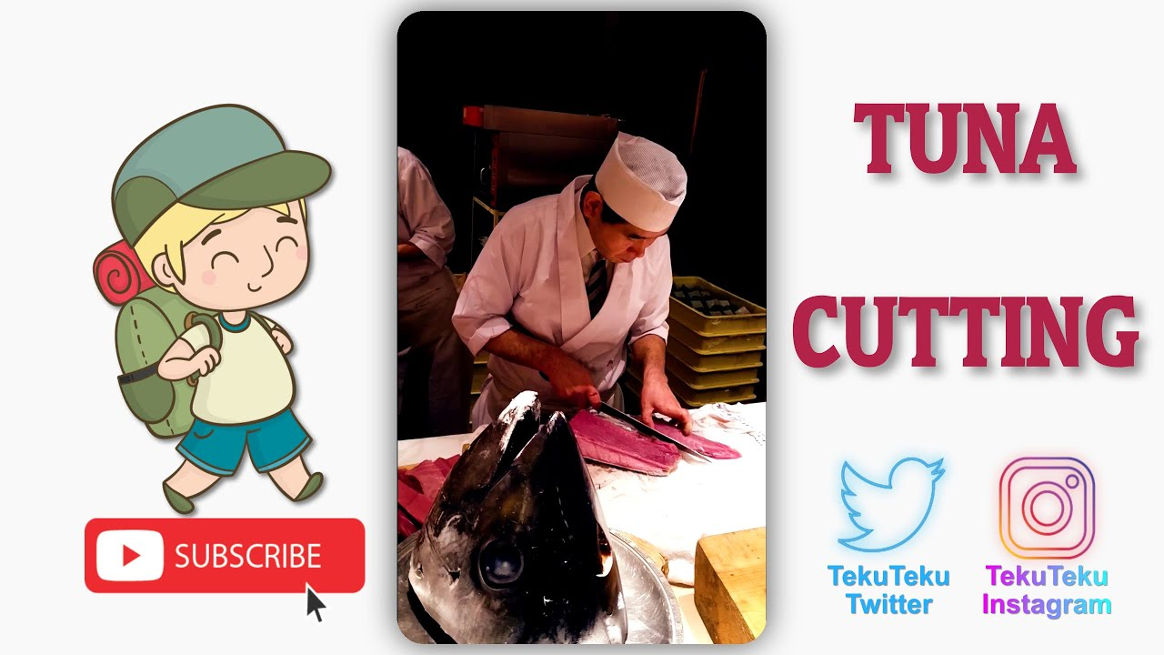 Fresh Tuna Cutting Event. Holidays in Japan. Culture Exploration