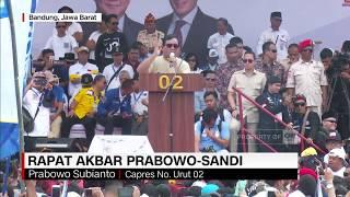 Rapat Akbar Prabowo Dipadati Simpatisan