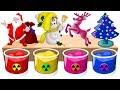 Learn Colors with Jingle Bells, Christmas trees, reindeer, santa claus, christmas bell