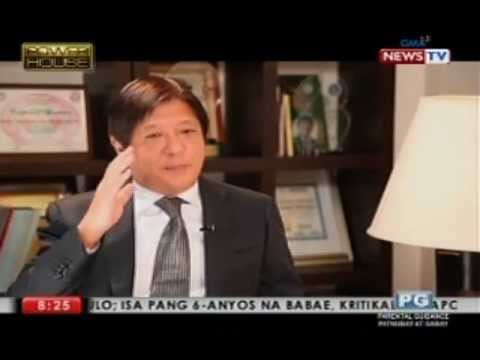 "Sen. Bongbong Marcos: ""History will judge my father properly"""