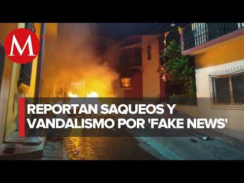 Con Vandalismo Protestan Por Sanitización En Chiapas