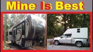 Comparing Camper To Trailer Living RV Life / Van Life Nomad