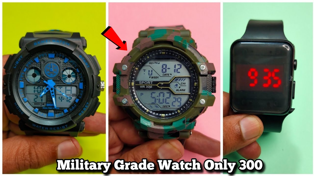 Download Cheapest Military Army Digital Sports Watch Unboxing & Review - Chatpat toy tv