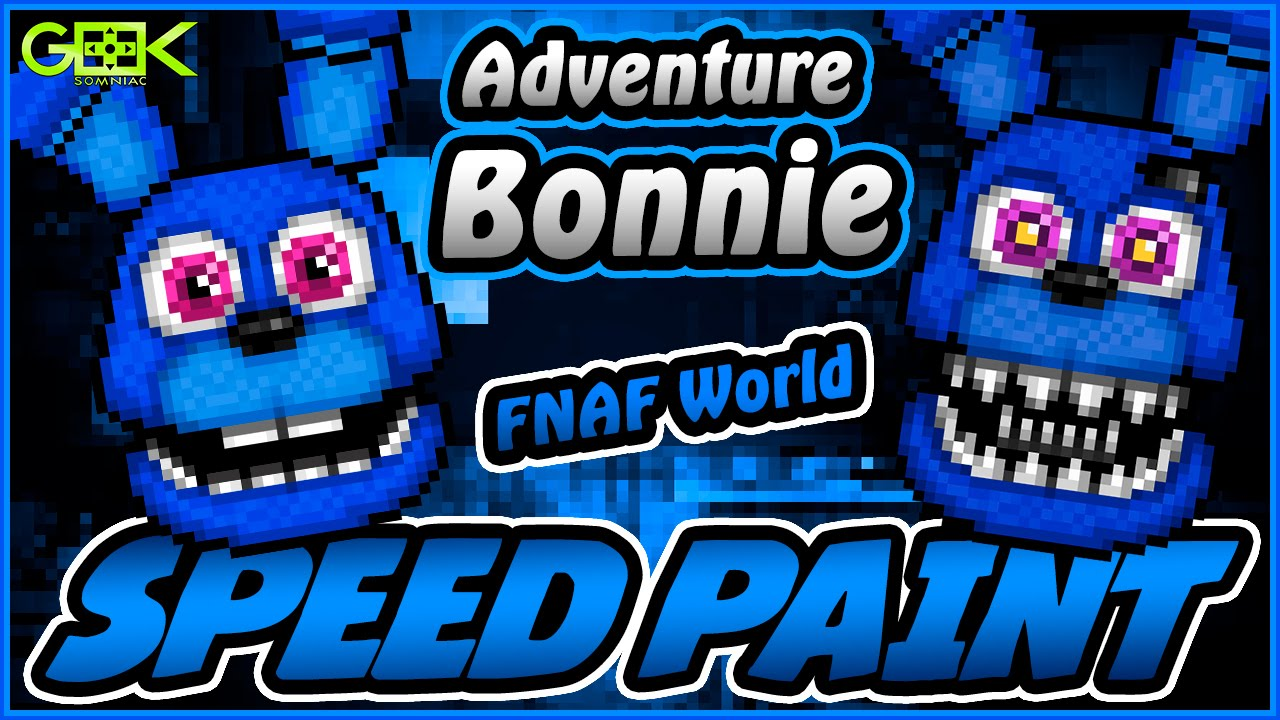 Adventure Bonnie Speedpaint Fnaf World Pixel Art