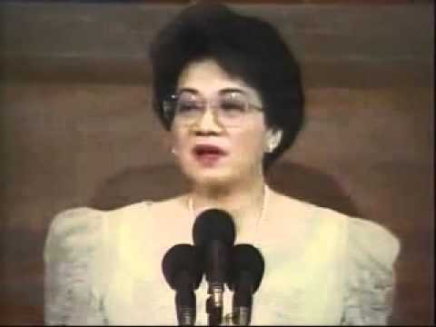 Talumpati ni dating pangulong cory aquino