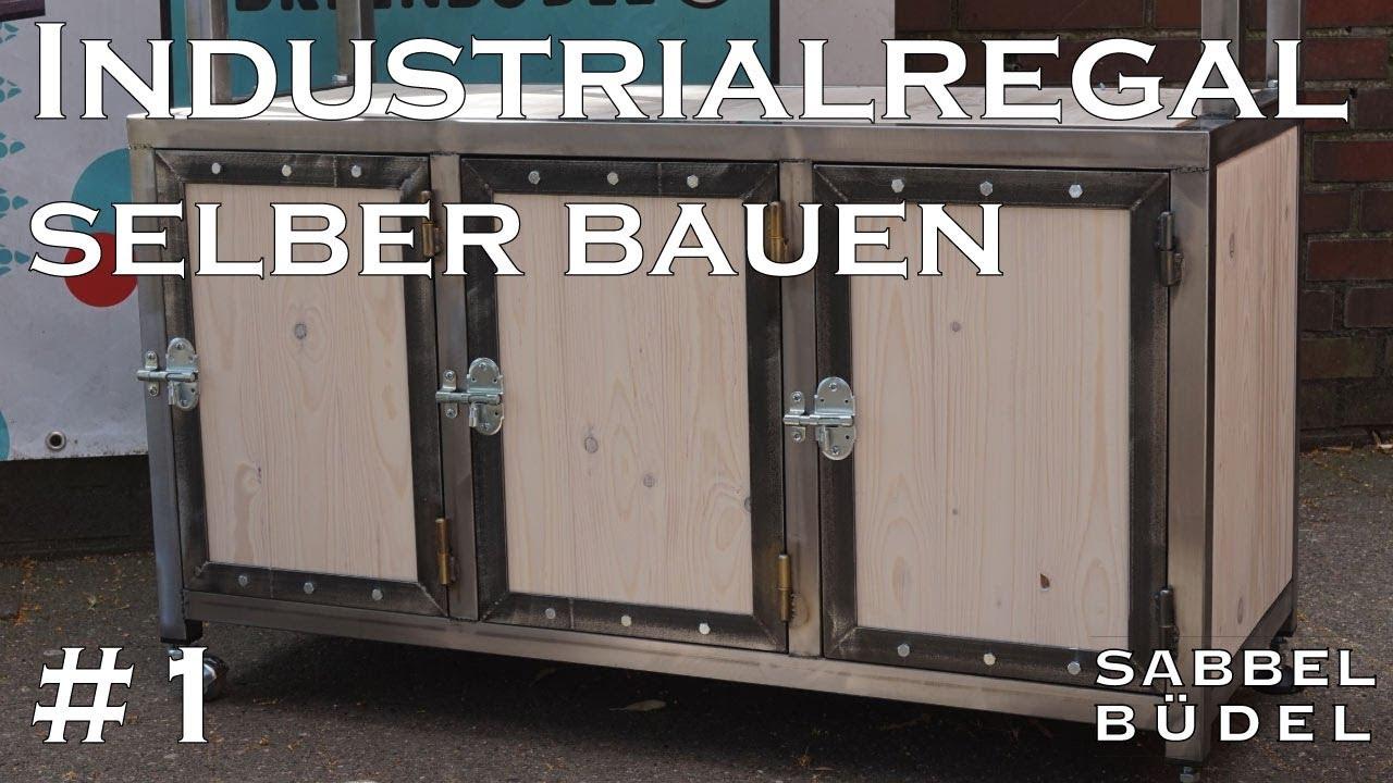 1 Industrial Regal Stahl Holz Selber Bauen Schweissen Youtube